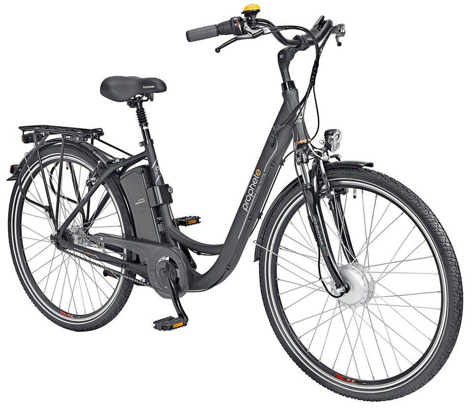 E-Bike City Damen »Navigator 6.3«, 26/28 Zoll, 7 Gang, Frontmotor, 374 Wh in grün