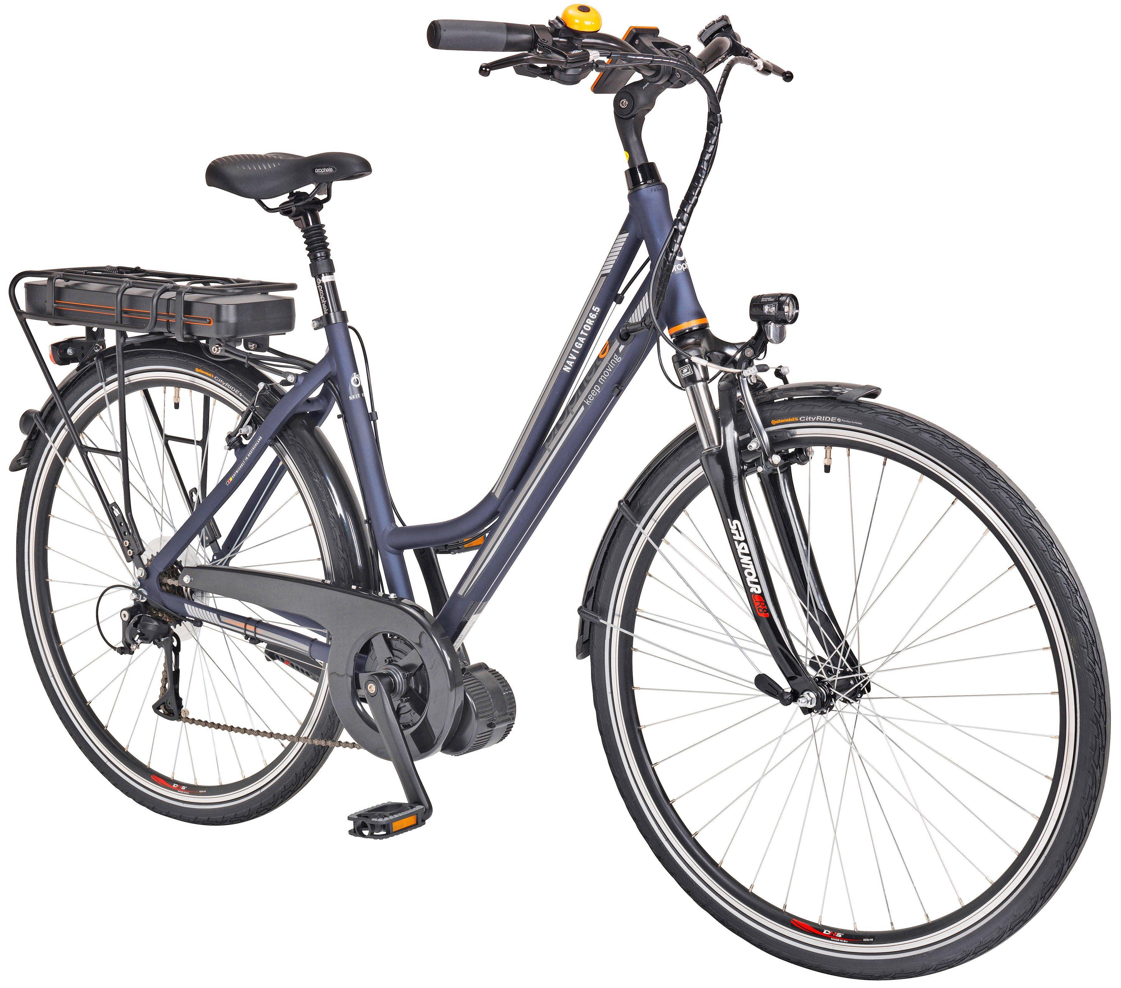 Prophete E-Bike Trekking Damen »Navigator 6.5«, 28 Zoll, 8 Gang, Mittelmotor, 468 Wh