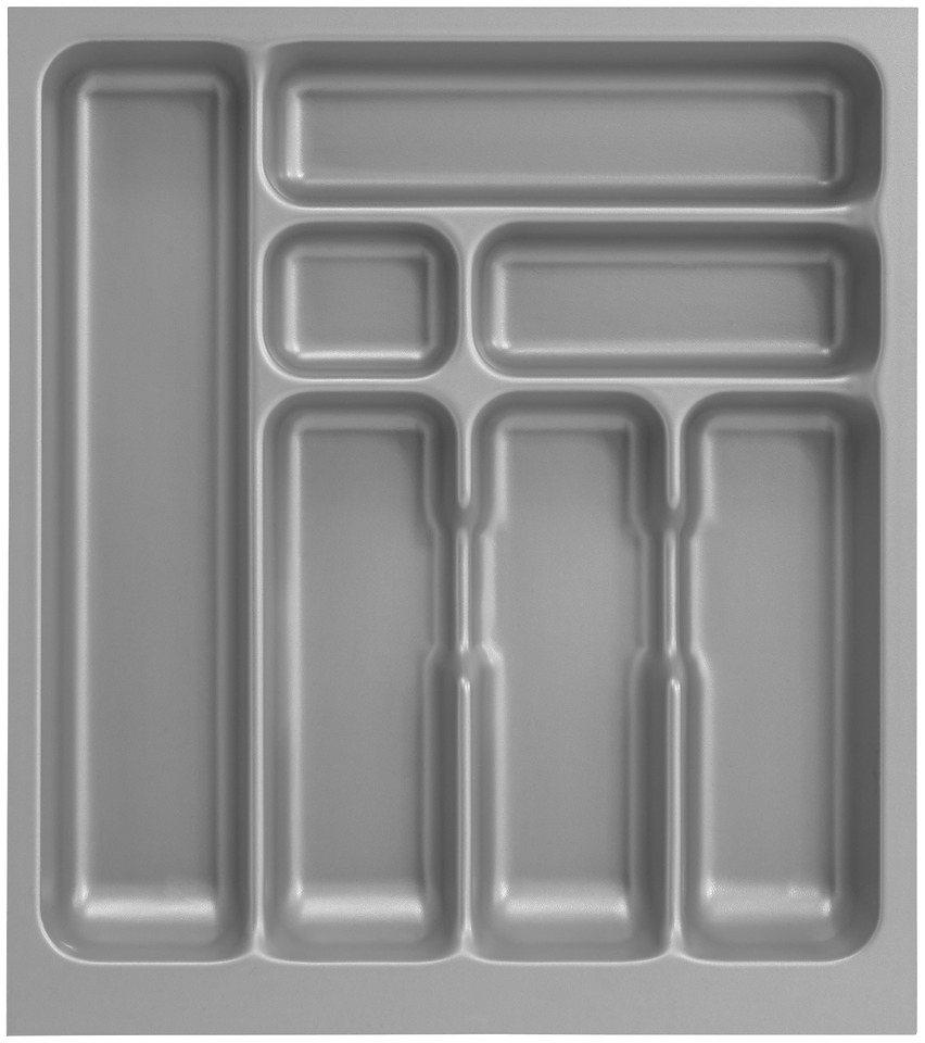 Besteckeinsatz für Schubkastenbreite 50 cm in grau