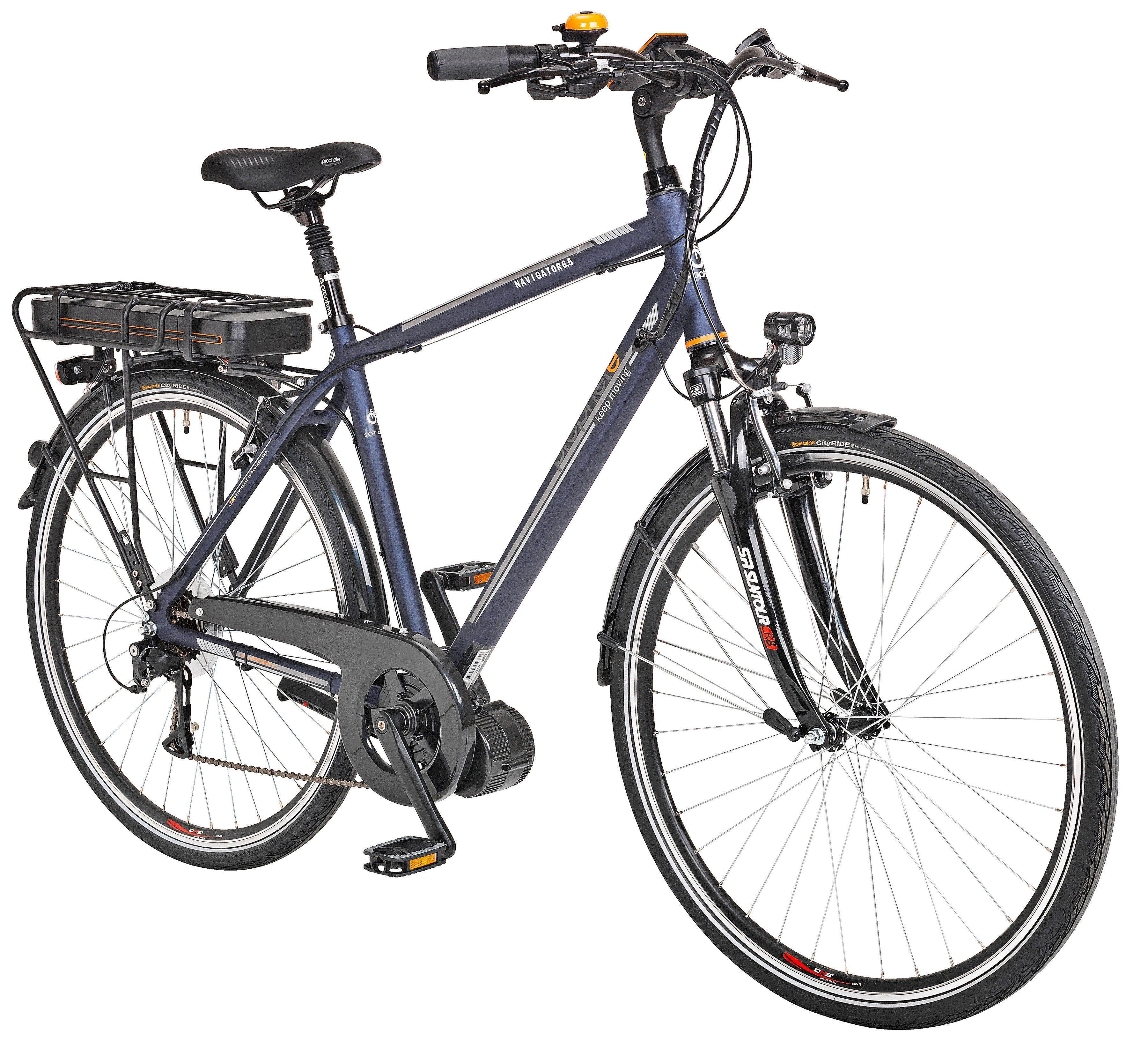 Prophete E-Bike Trekking Herren »Navigator 6.5«, 28 Zoll, 8 Gang, Mittelmotor, 468 Wh