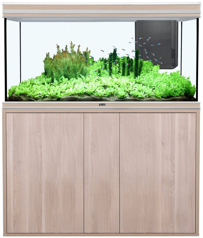 Aquarien-Set »Fusion 120x50 LED« in eichefarben/cremefarben