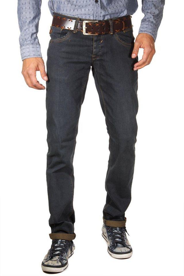 Bright Jeans Stretchjeans regular fit in blau