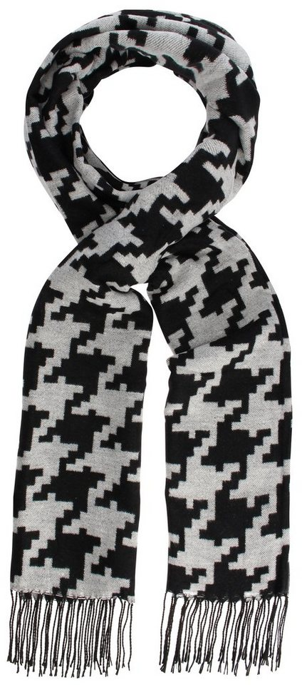 Highlight Company Schal in schwarz/creme