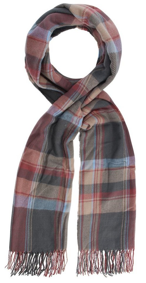Highlight Company Schal in grau/rose/blau