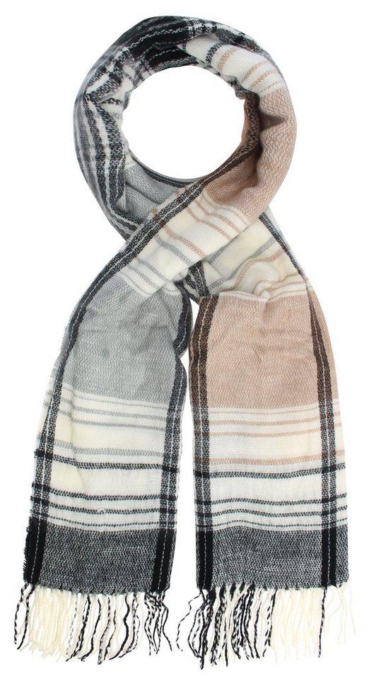 Highlight Company Schal in schwarz/beige/wollwe
