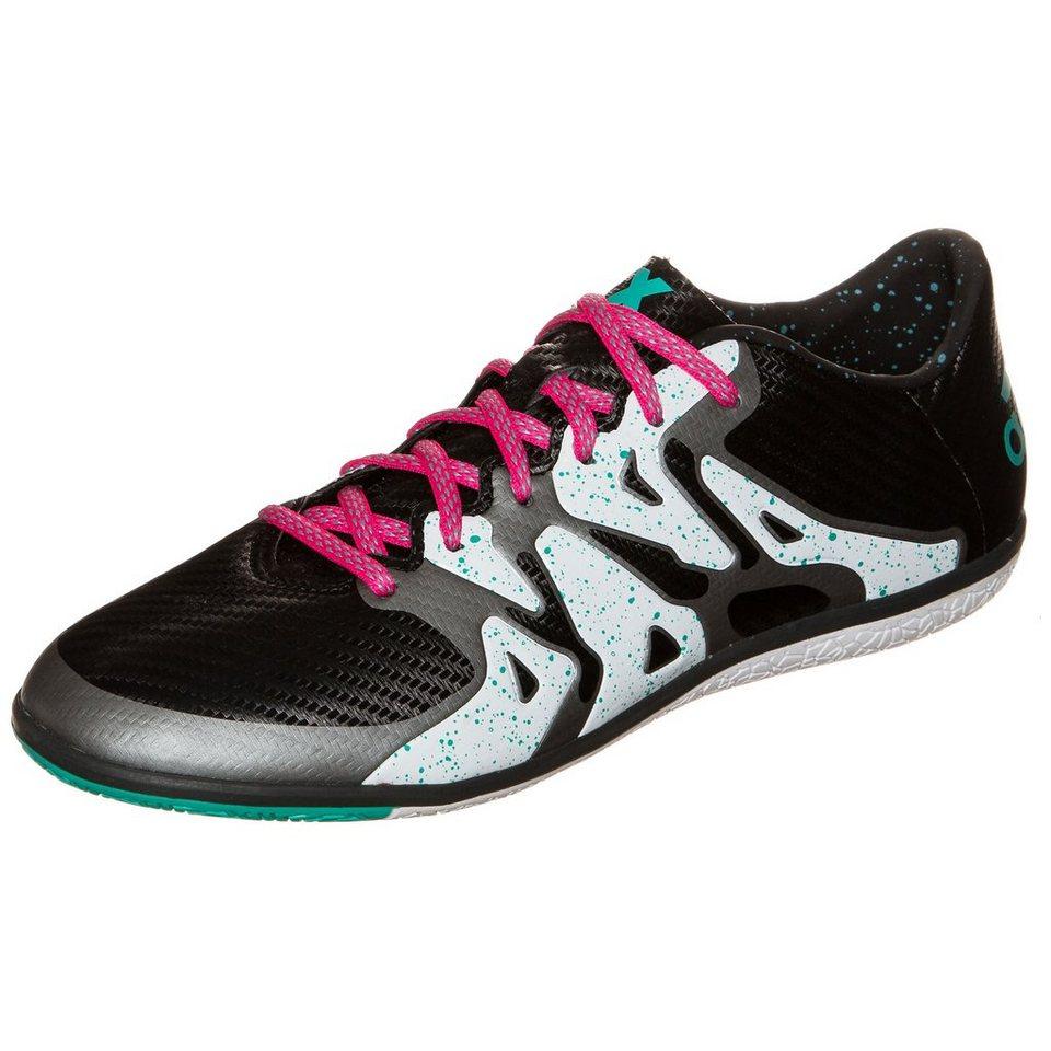 adidas Performance X 15.3 Indoor Fußballschuh Herren in schwarz / weiß