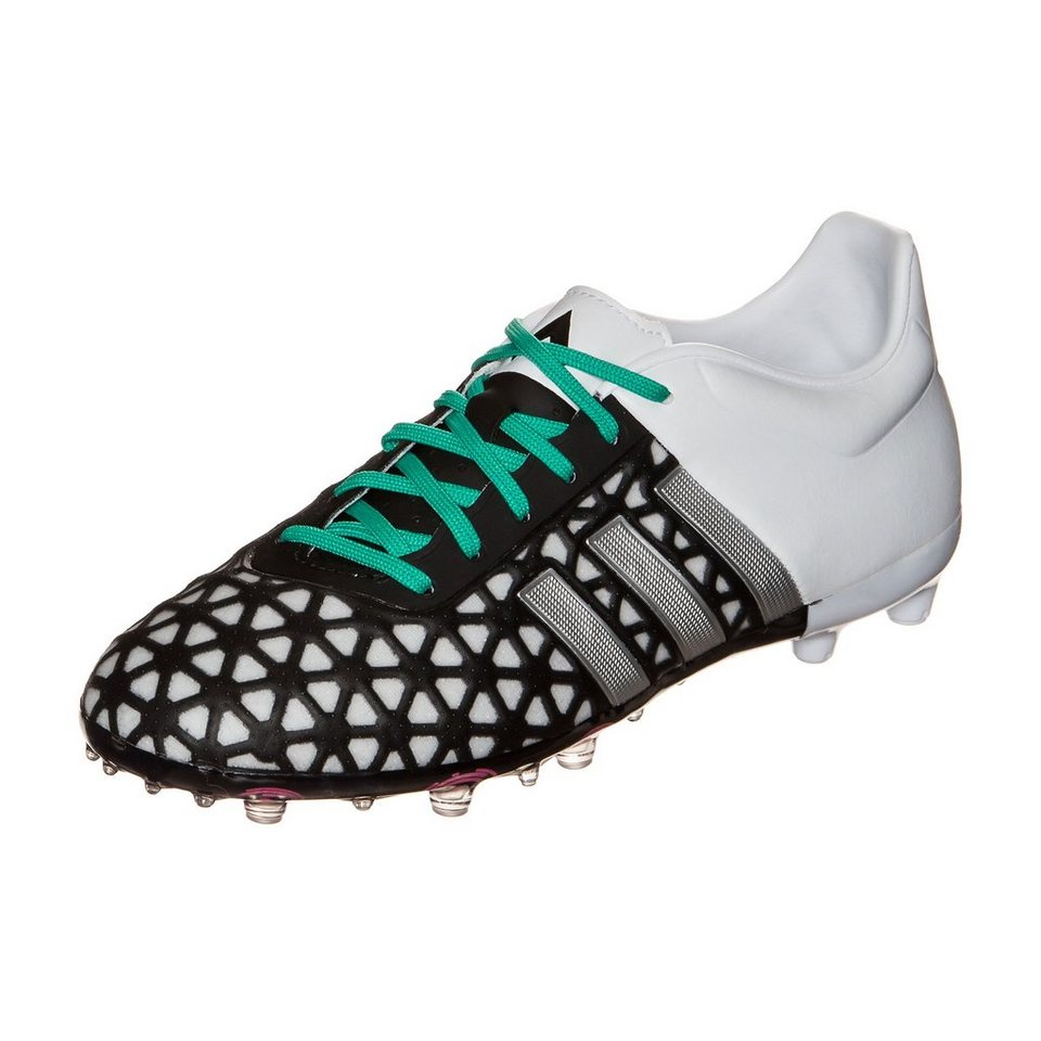 adidas Performance ACE 15.1 FG/AG Fußballschuh Kinder in schwarz / weiß