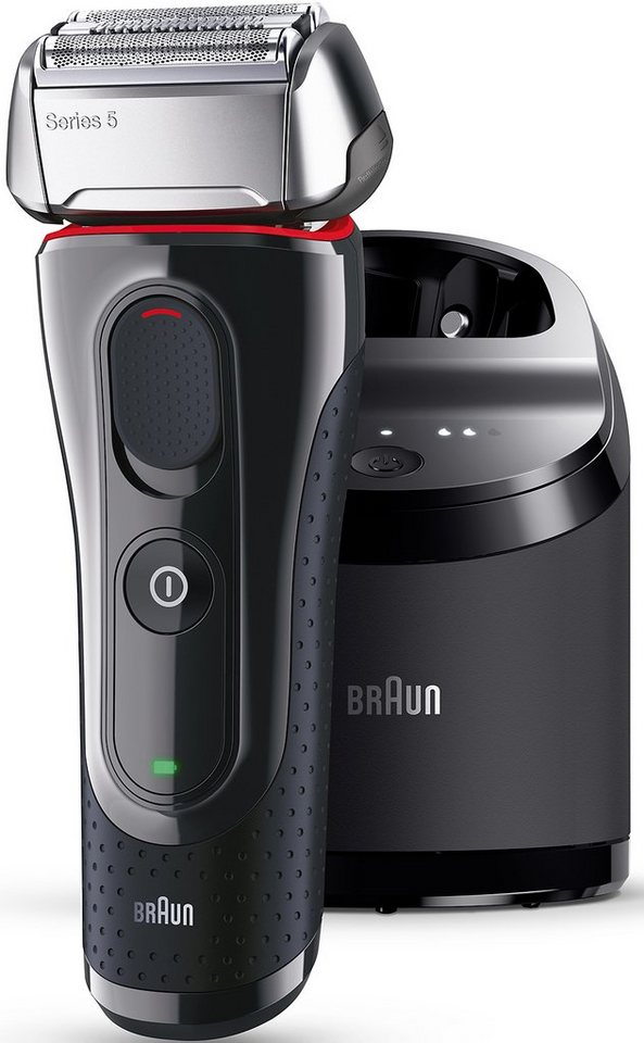 Braun Elektrorasierer Series 5 5070cc, mit Clean & Charge-Station in schwarz