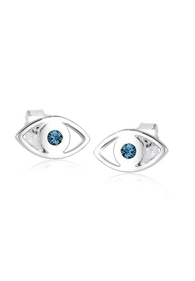 Elli Ohrringe »Evil Eye Swarovski Kristalle Silber« in Blau