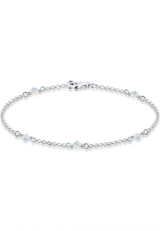 Elli Armband »Swarovski Kristalle Silber« in Weiß