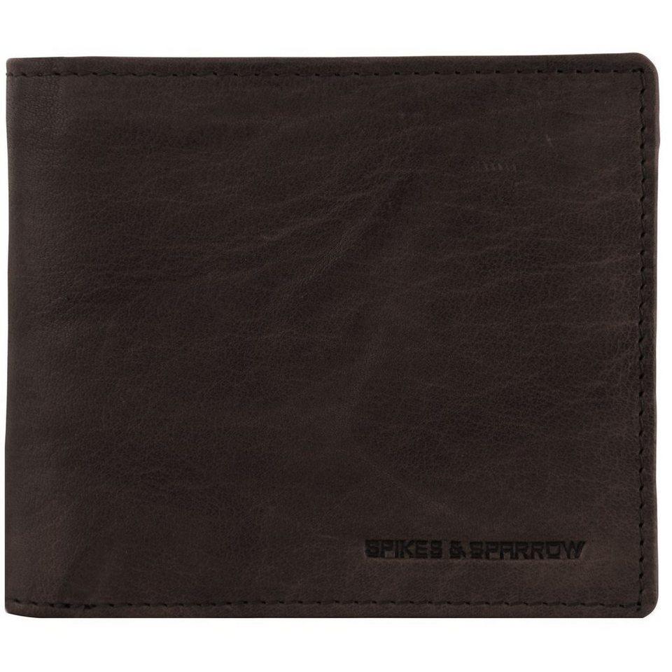 Spikes & Sparrow Bronco Geldbörse Leder 12,5 cm in dark brown