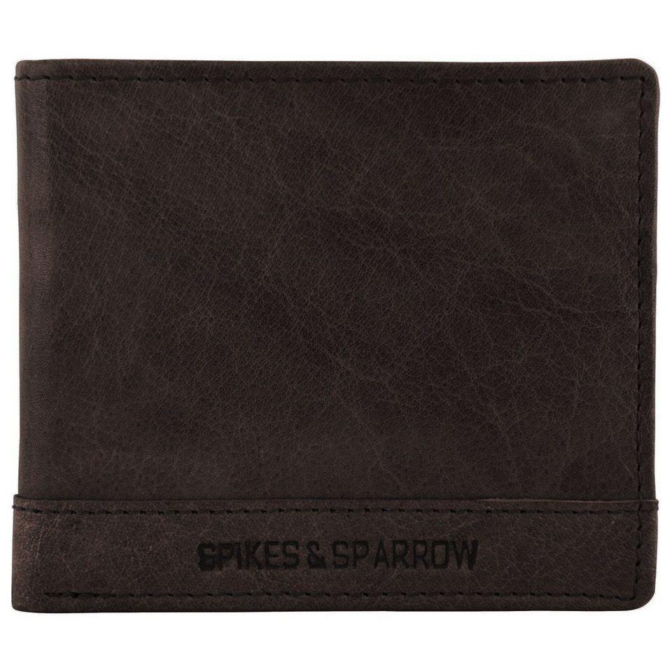 Spikes & Sparrow Bronco Geldbörse Leder 12 cm in dark brown