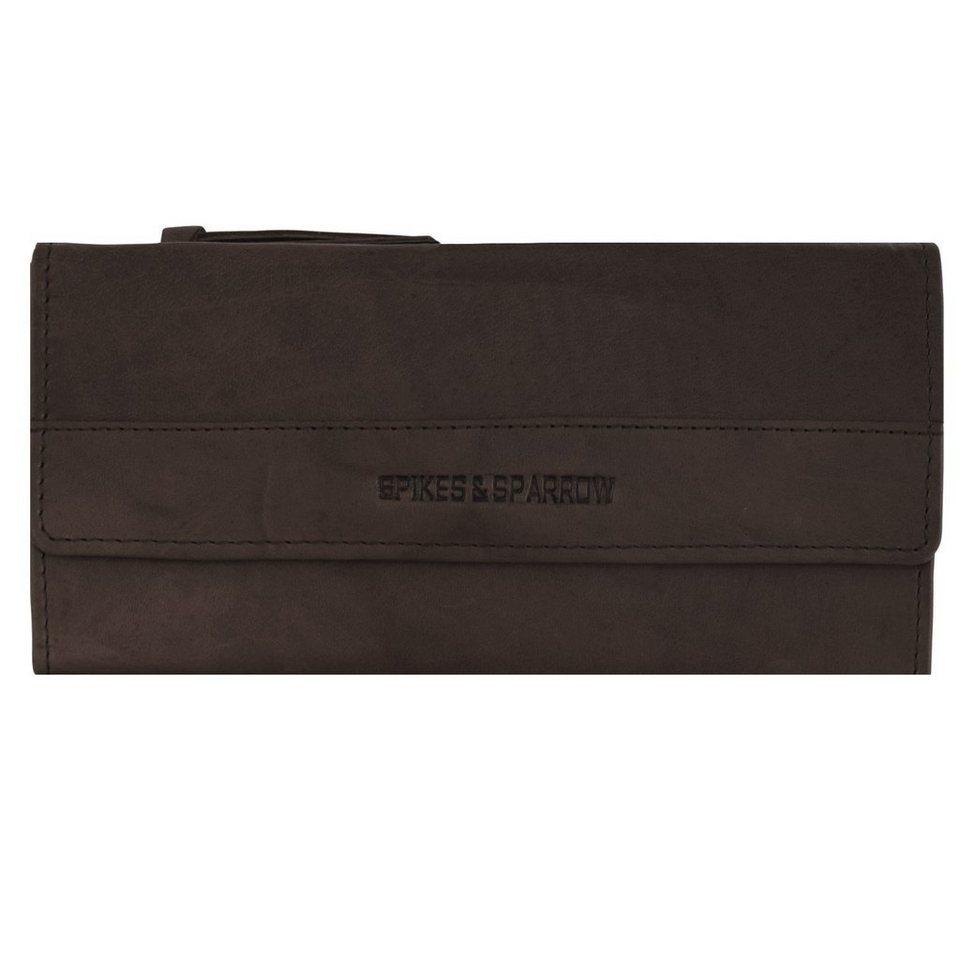 Spikes & Sparrow Bronco Geldbörse Leder 19,5 cm in dark brown