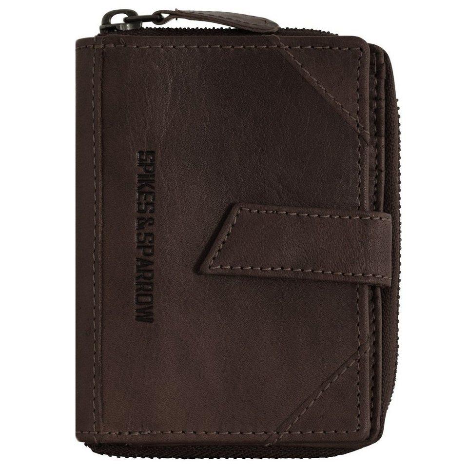Spikes & Sparrow Bronco Geldbörse Leder 10 cm in dark brown
