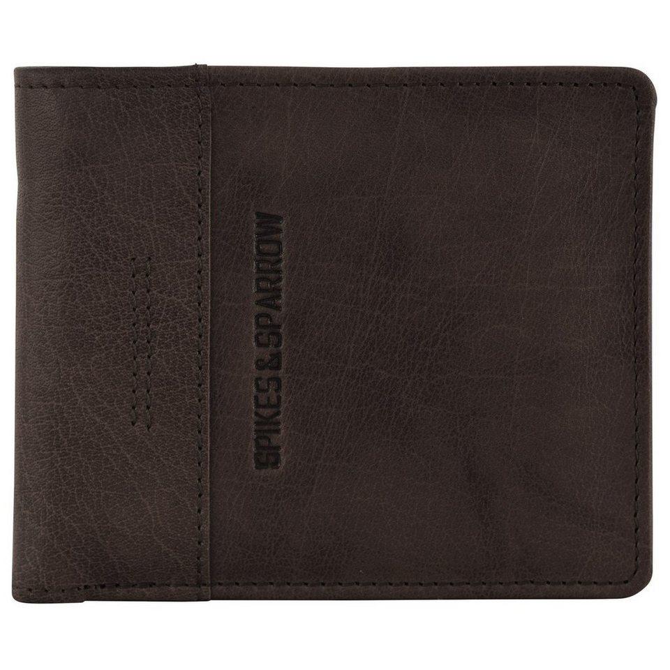 Spikes & Sparrow Bronco Geldbörse Leder 2-tlg. 13 cm in dark brown
