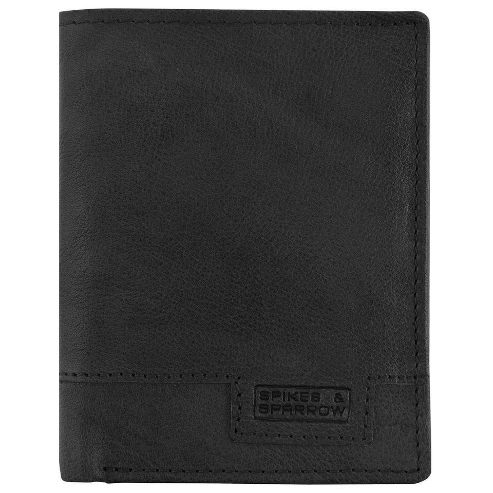 Spikes & Sparrow Bronco Geldbörse Leder 9,5 cm in black