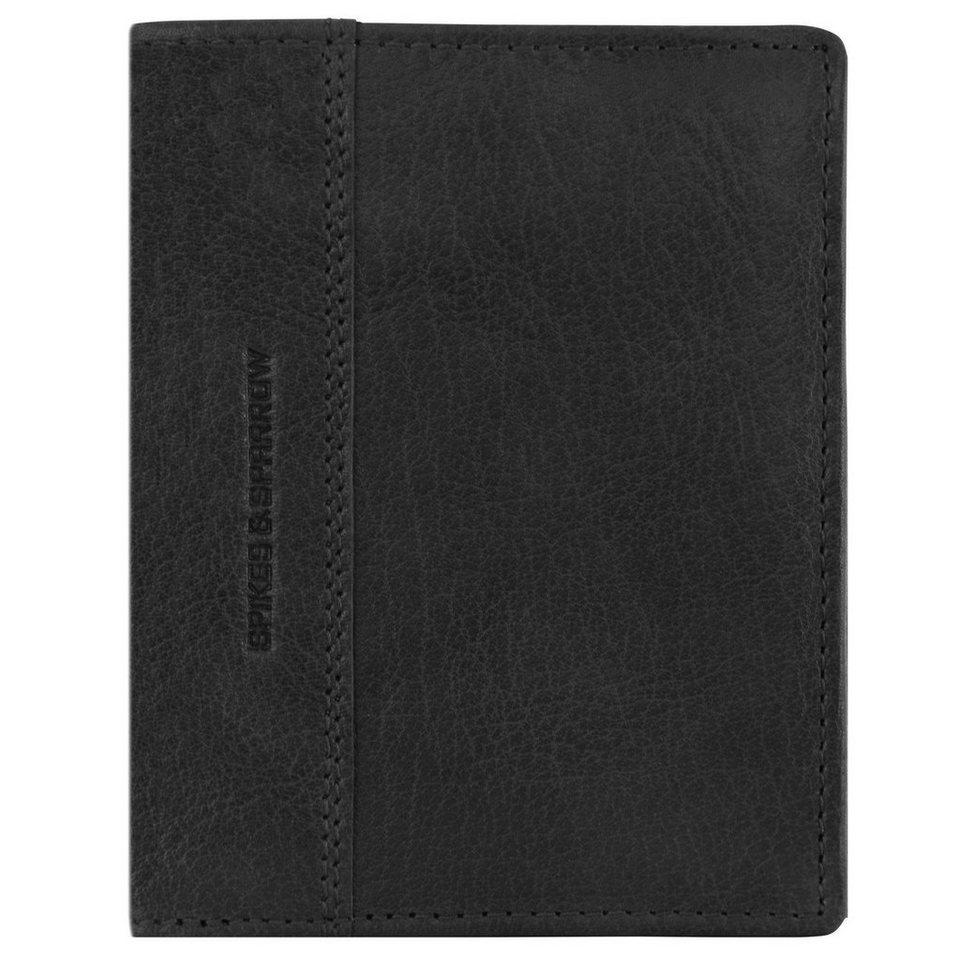 Spikes & Sparrow Bronco Geldbörse Leder 10 cm in black