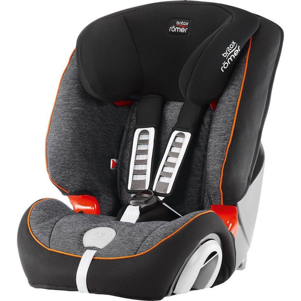 Britax Römer Auto-Kindersitz Evolva 1-2-3 Plus, Black Marble, 2016 in schwarz