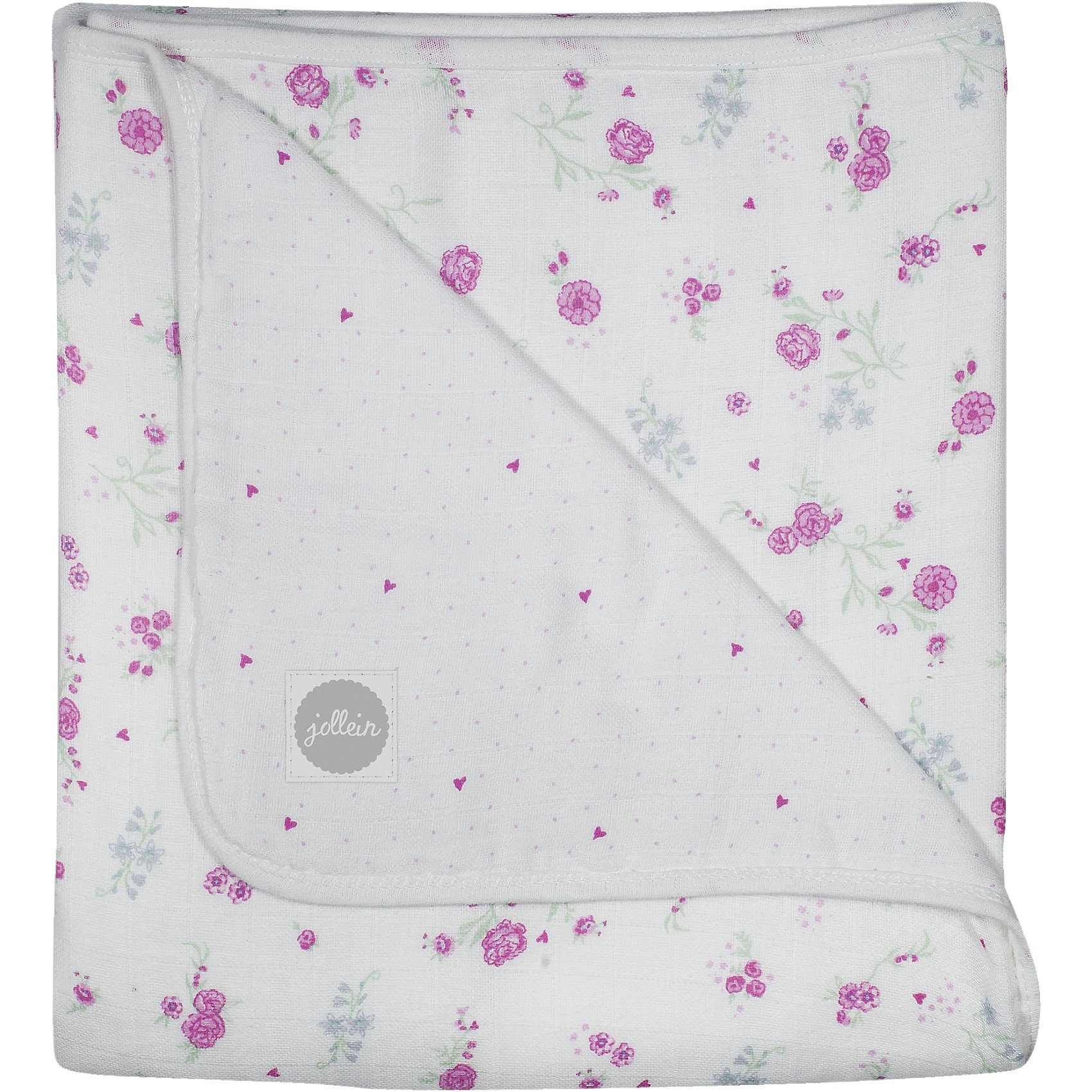 Jollein Mulldecke, Blooming, rosa, 75 x 100 cm