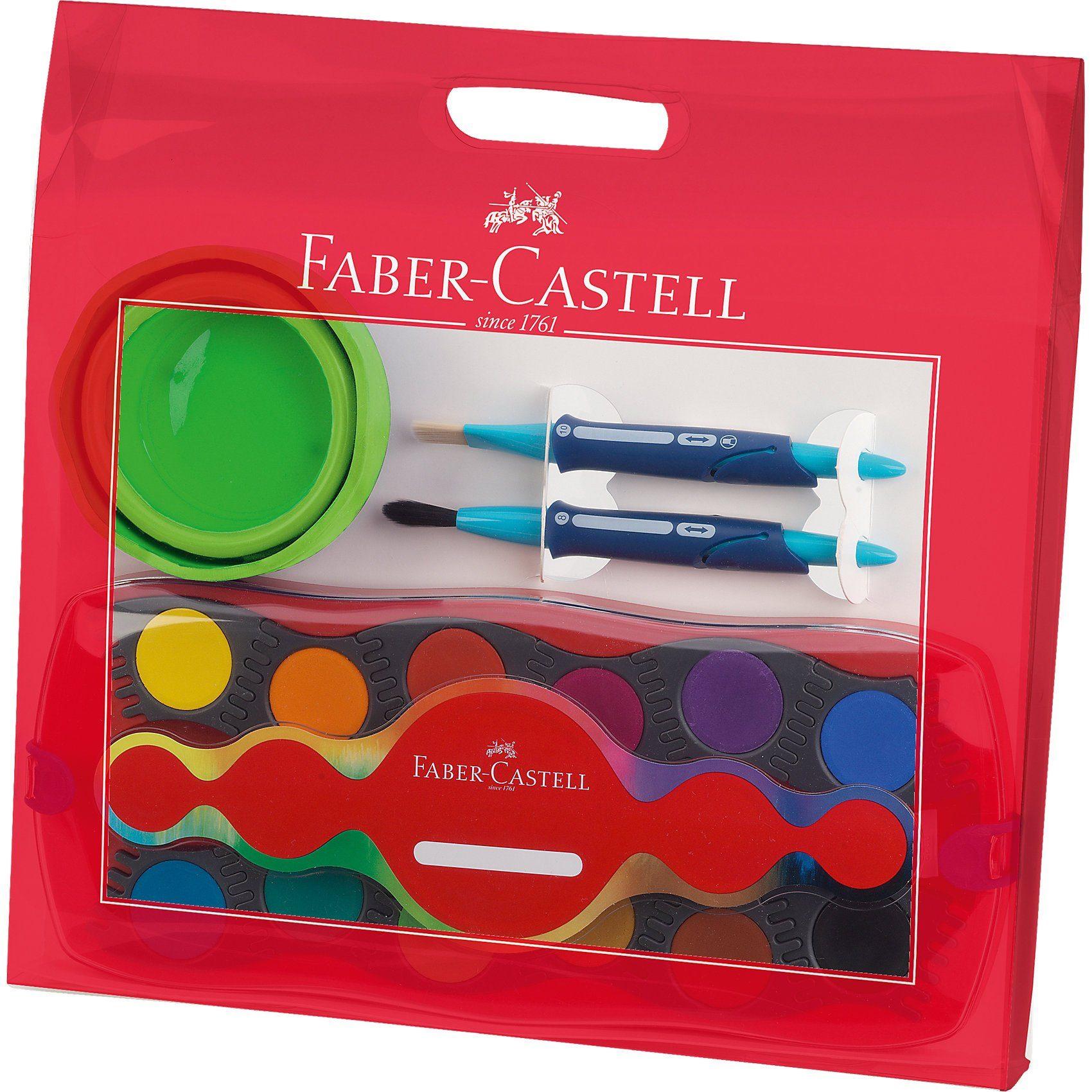 Faber-Castell CONNECTOR Malkoffer, inkl. Farbkasten, Becher & Pinsel
