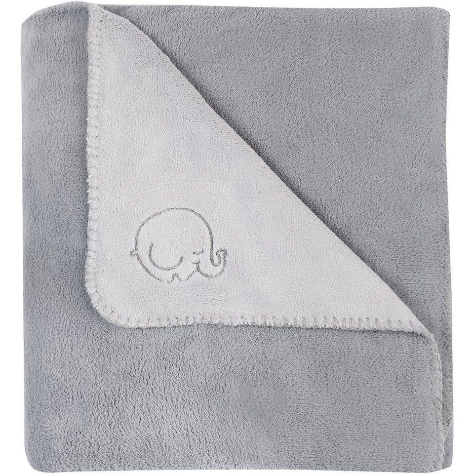 Jollein Babydecke Fleece, Comfy, grau, 75 x 100 cm in grau