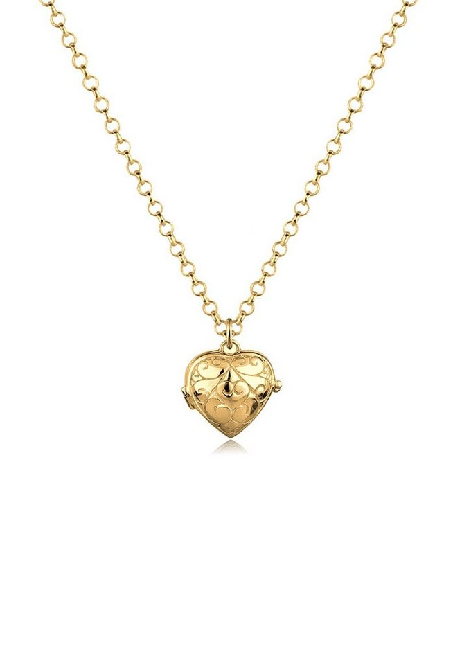 Goldhimmel Halskette »Herz-Medaillon 925 Sterling Silber« in Gold
