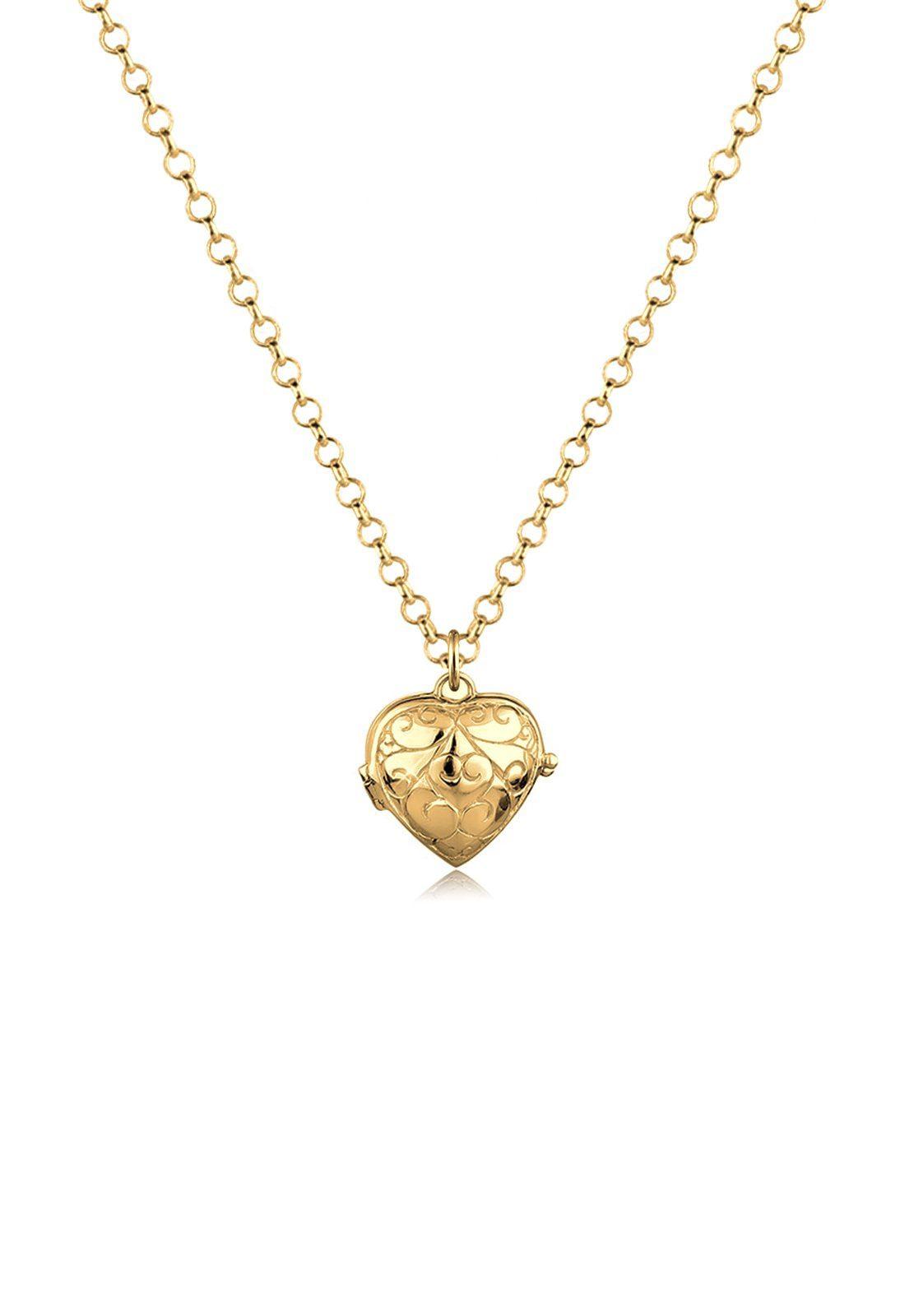 Goldhimmel Halskette »Herz Medaillon Amulett 925 Sterling Silber Felize«