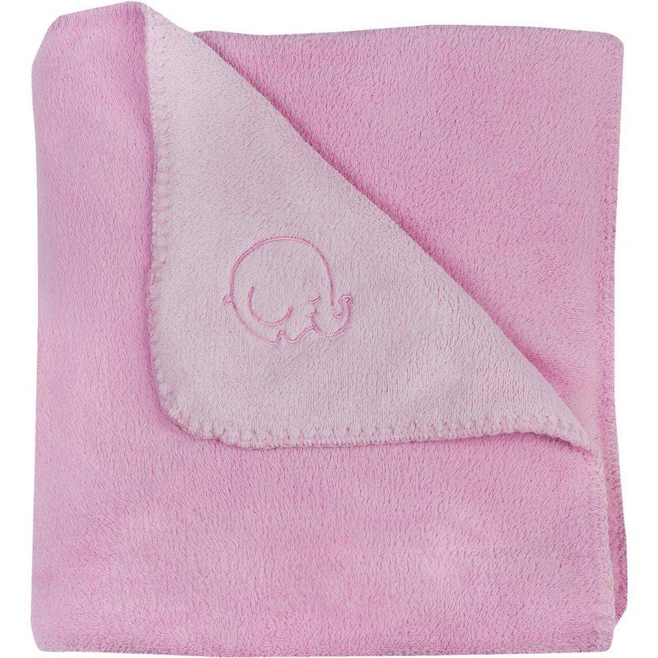 Jollein Babydecke Fleece, Comfy, rosa, 75 x 100 cm in rosa