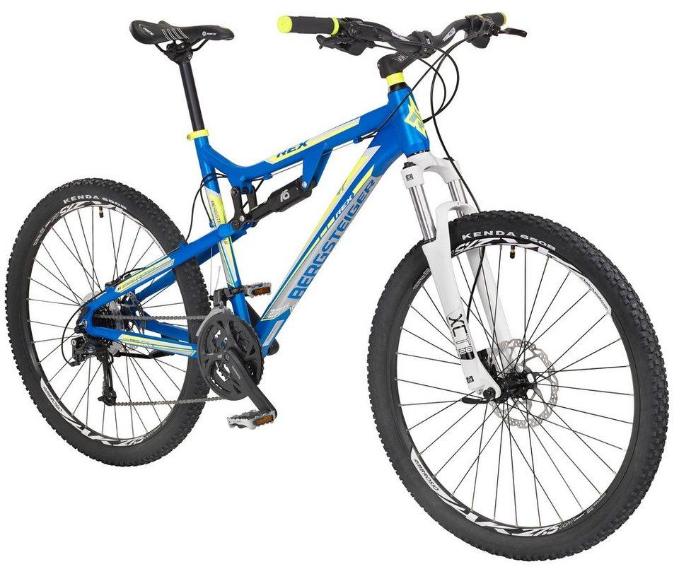 Fully-Mountainbike »Bergsteiger 6.6«, 27,5 Zoll, SHIMANO Deore 27 Gang, SUNTOUR Gabel in blau