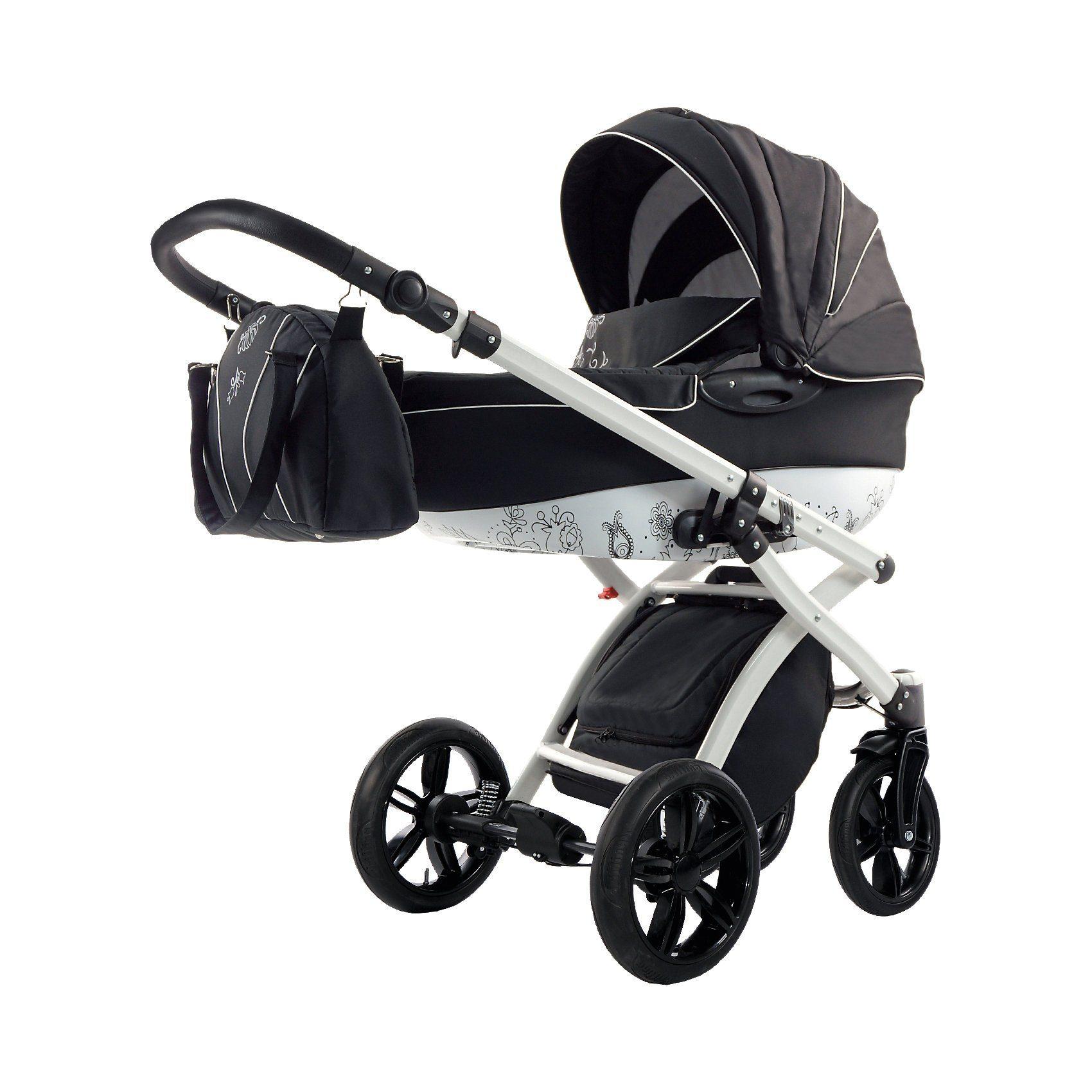 knorr-baby Kombi Kinderwagen Alive Art, schwarz-weiß