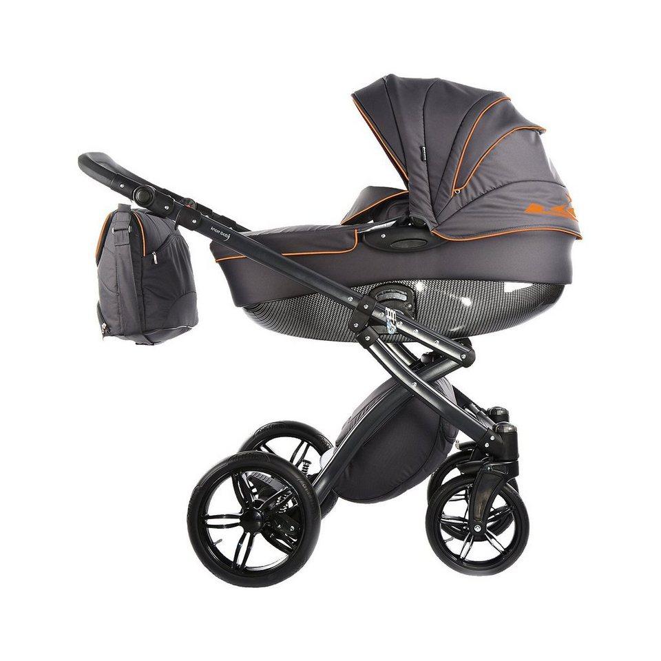 knorr-baby Kombi Kinderwagen Alive Be Carbon, dunkelgrau-orange in anthrazit/orange