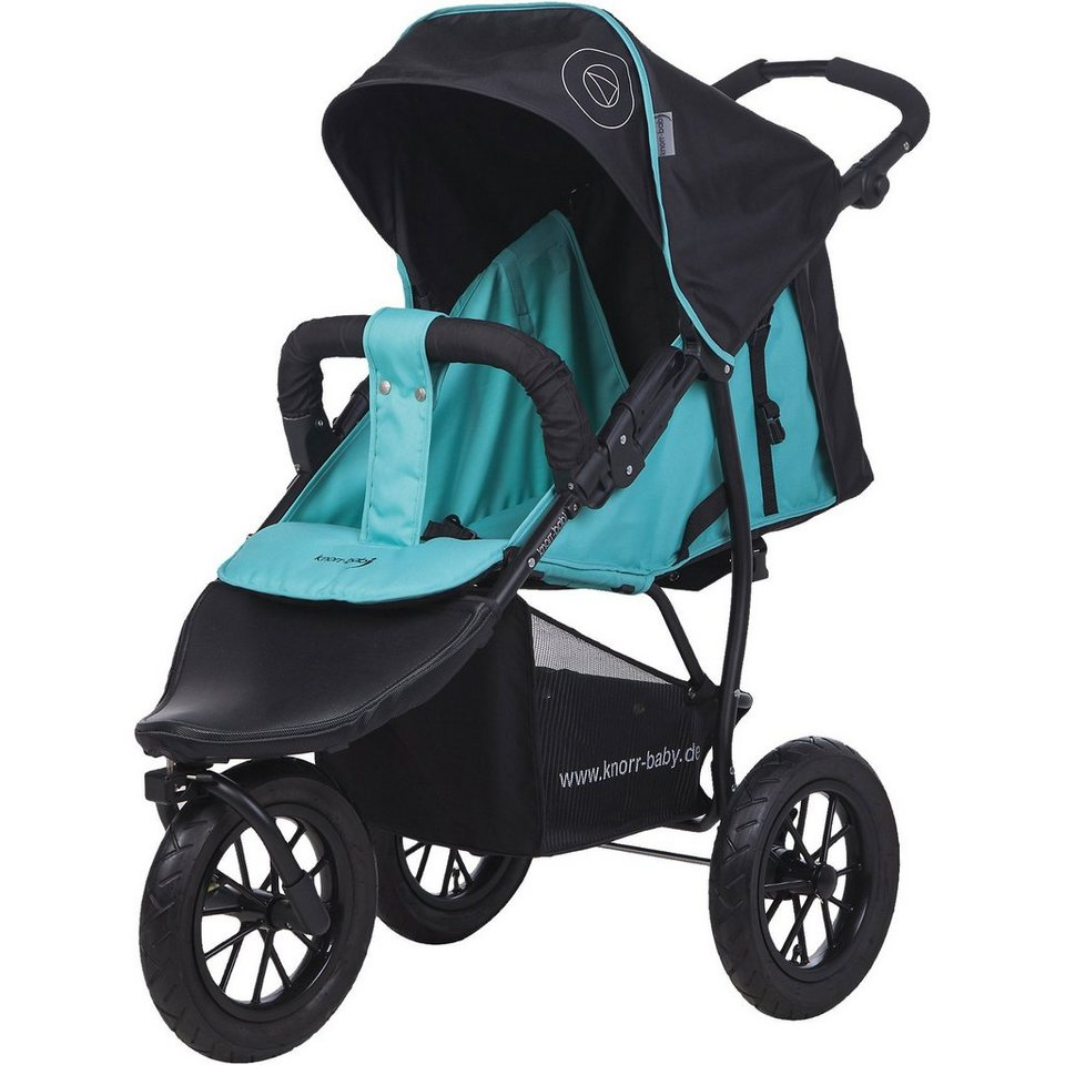 knorr-baby Jogger Joggy S Happy Colour mit Schlummerverdeck, blau in blau