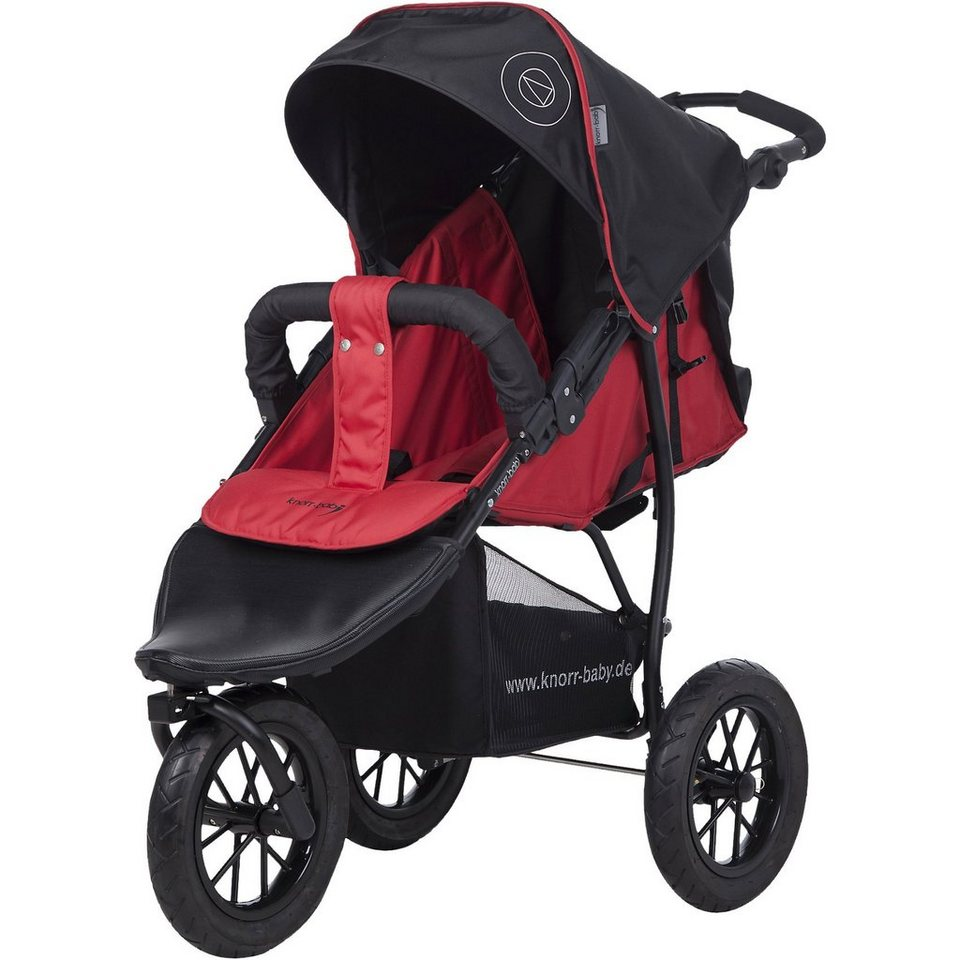 knorr-baby Jogger Joggy S Happy Colour mit Schlummerverdeck, rot in rot