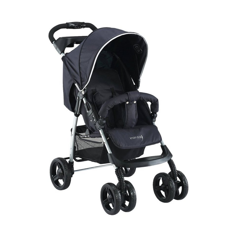 knorr-baby Sportwagen V-Easy Fold Happy Colour, schwarz in schwarz