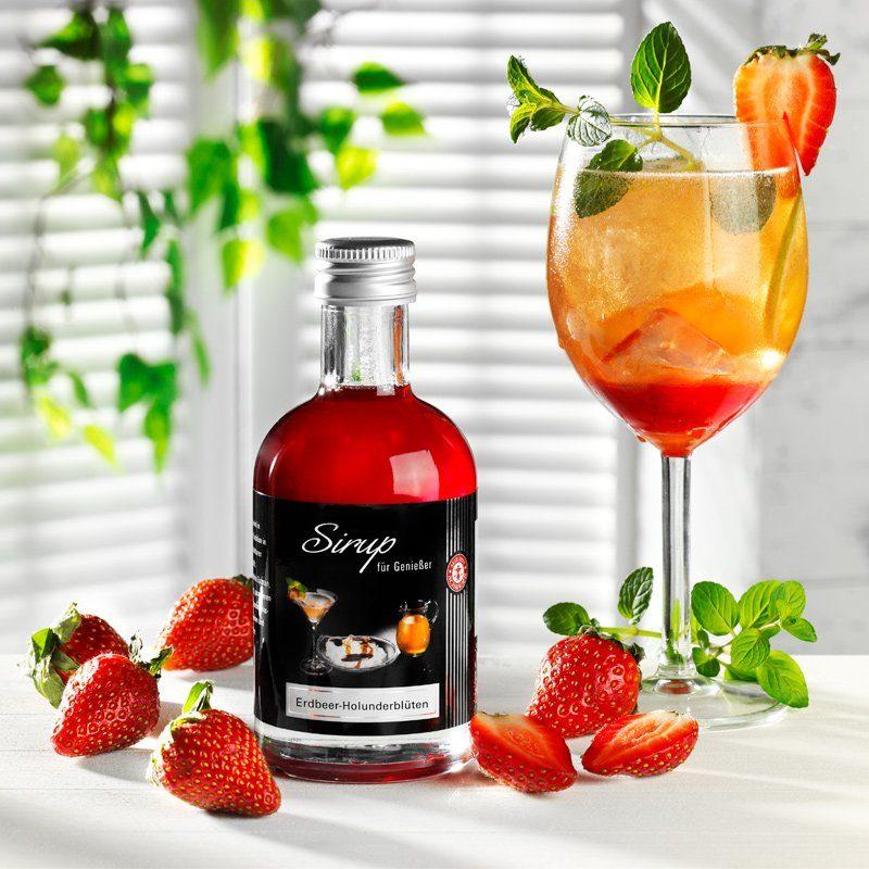 Schrader Sirup Erdbeer Holunderblüten