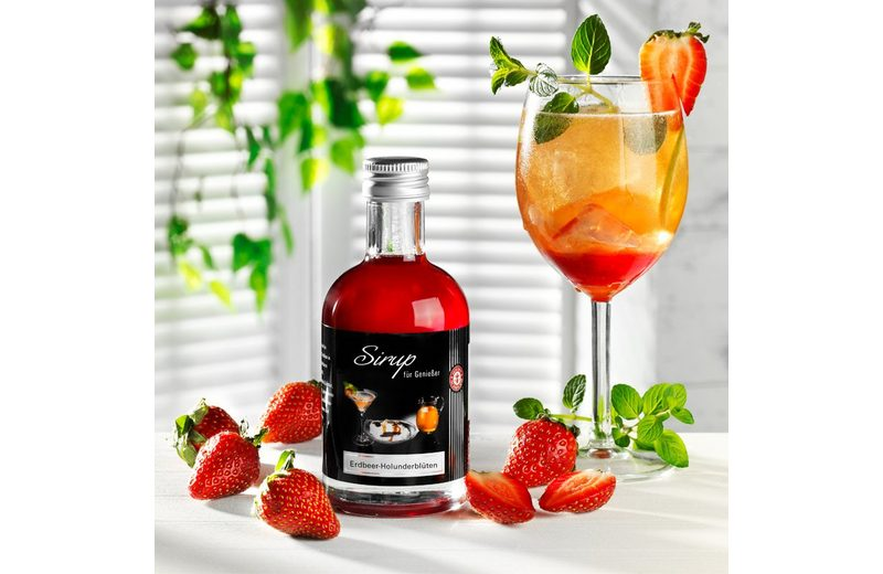 Schrader Sirup Erdbeer Holunderblüten 200 ml