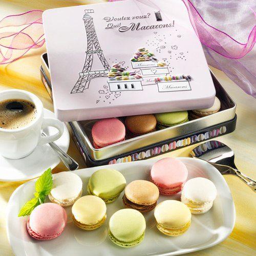 Rabbel Macarons in Prägedose