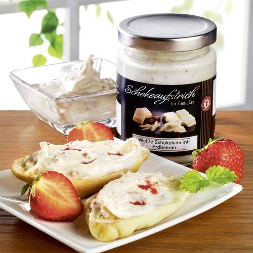 Schrader Schokocreme Weiße Schokolade mit Erdbeeren