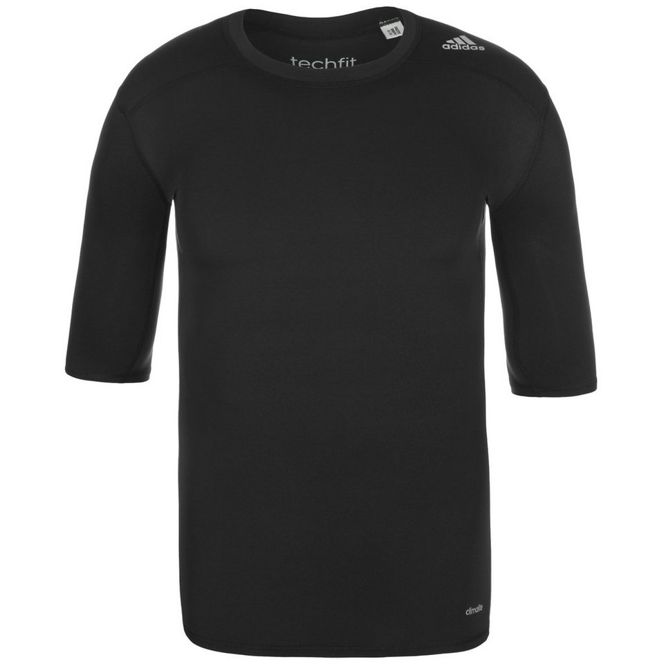 adidas Performance TechFit Base Trainingsshirt Herren in schwarz