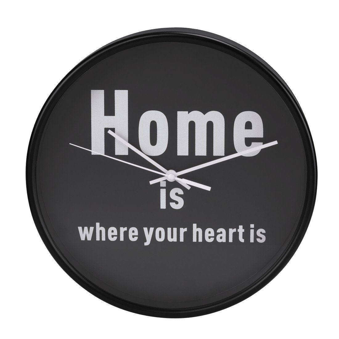 Hama Wanduhr geräuscharme Uhr ohne Ticken, leise, 26 cm, rund »Home is where your heart is«