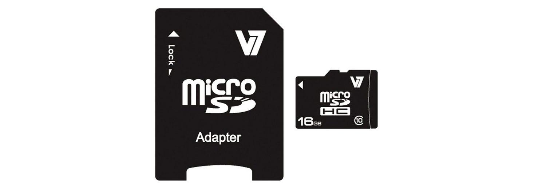 V7 Secure Digital Karte »MICROSD CARD 16GB SDHC CL10«