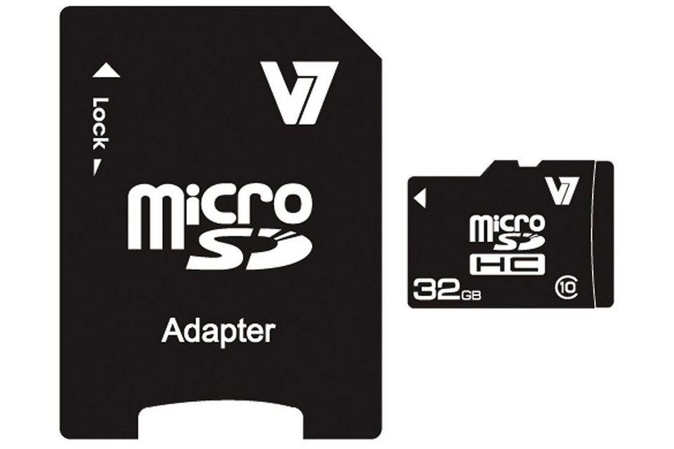 V7 Secure Digital Karte »MICROSD CARD 32GB SDHC CL10«