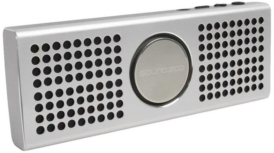 Sound2Go Atmosphere - Bluetooth Stereo-Lautsprecher in silber