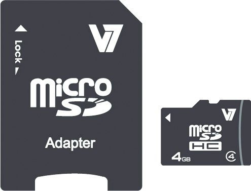 V7 Secure Digital Karte »V7 MICROSD CARD 4GB SDHC CL4«