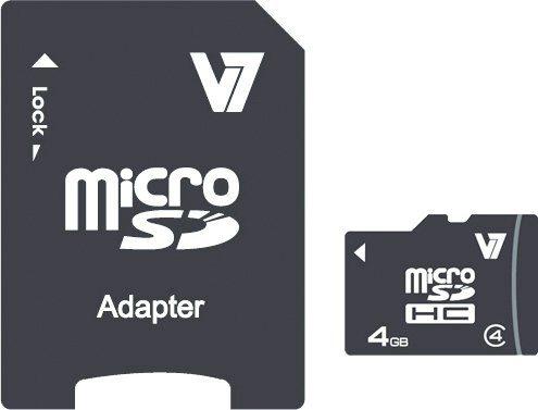 V7 Secure Digital Karte »V7 MICROSD CARD 4GB SDHC CL4«