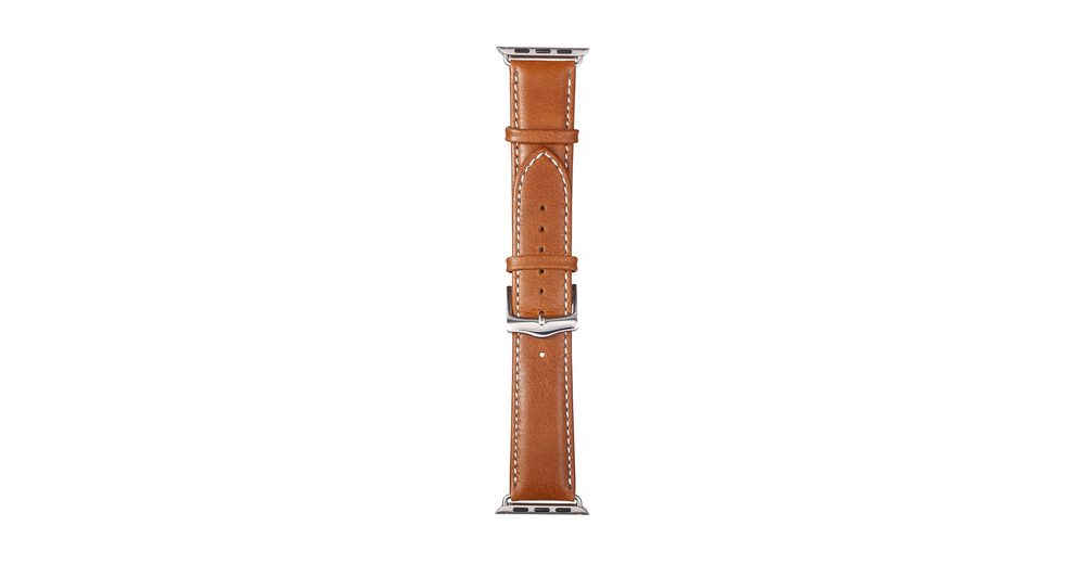 dbramante1928 Lederarmband »Copenhagen Apple Watch 38 mm Watch Strap Silver/Ta«