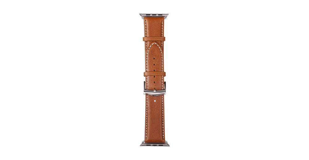 dbramante1928 Lederarmband »Copenhagen Apple Watch 42 mm Watch Strap Silver/Ta«