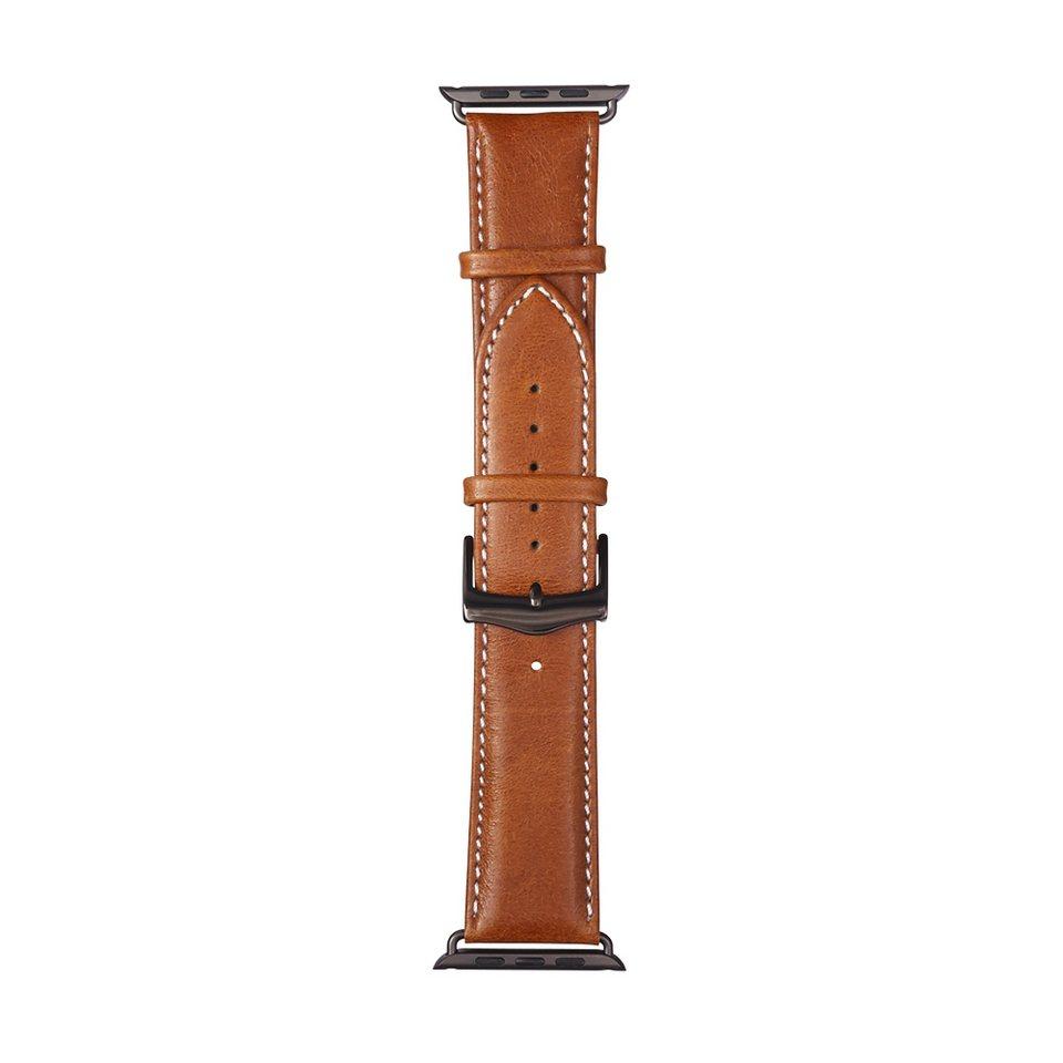 dbramante1928 Lederarmband »Copenhagen Apple Watch 42 mm Watch Strap SpaceGray« in braun