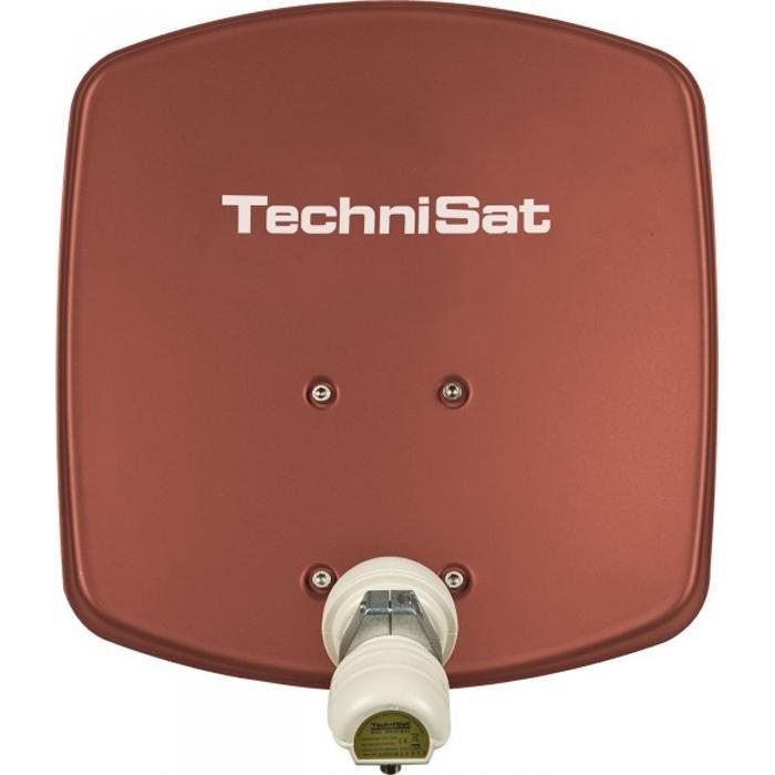 TechniSat Sat-Antenne 33 cm mit Single-LNB »DigiDish 33, Universal-V/H-LNB« in rot