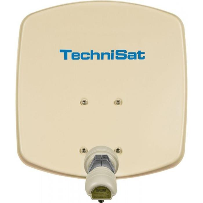 TechniSat Sat-Antenne 33 cm mit Single-LNB »DigiDish 33, Universal-V/H-LNB« in beige